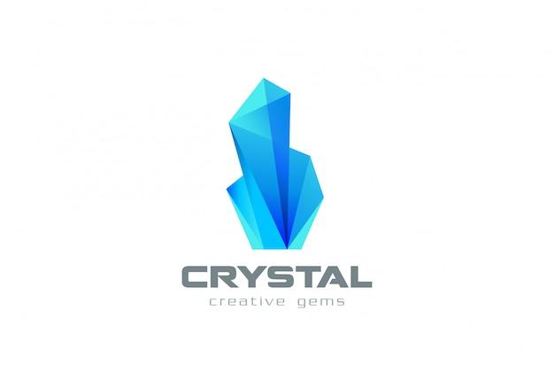 Icona con logo gemme di cristallo.