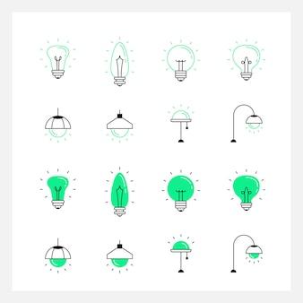 Icona creativa lampada luce