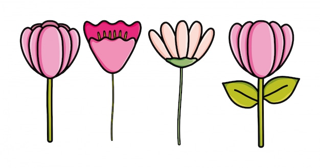 Icona decorativa del giardino di fiori sveglio
