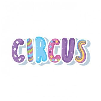Icona decorativa di parola di circo