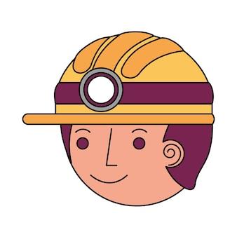 Icona del carattere avatar testa di vigile del fuoco