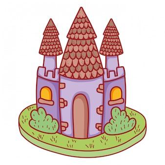 Icona del castello da favola carina