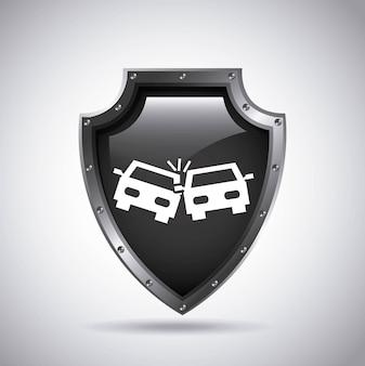 Icona del concetto di assicurazione auto