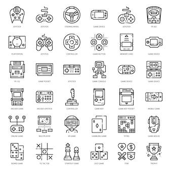Icona del contorno della tecnologia di gioco