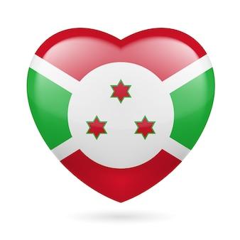 Icona del cuore del burundi