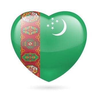 Icona del cuore del turkmenistan