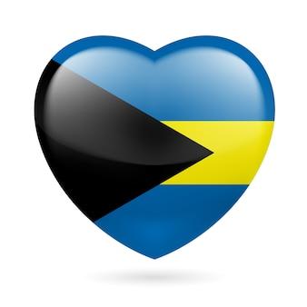 Icona del cuore delle bahamas