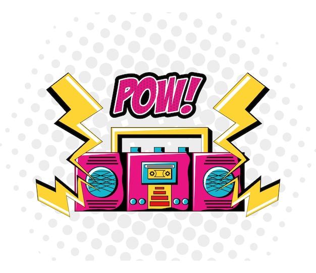 Icona del dispositivo e tuona di boombox