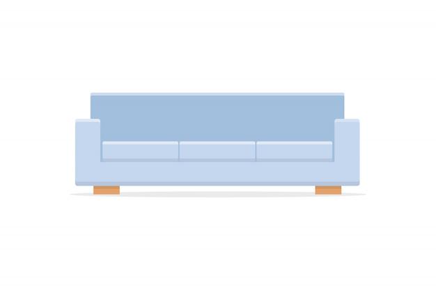 Icona del divano con stile piatto ombra