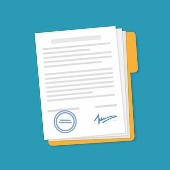 Icona del documento nella cartella.