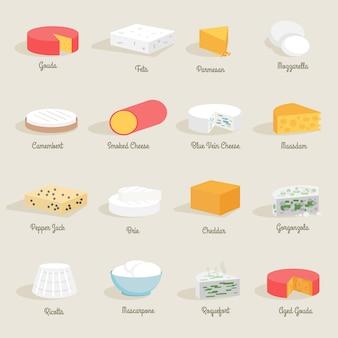 Icona del formaggio piatta