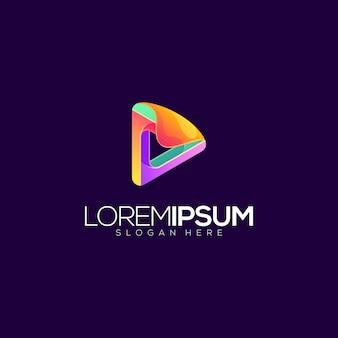 Icona del gioco astratta premium logo illustration