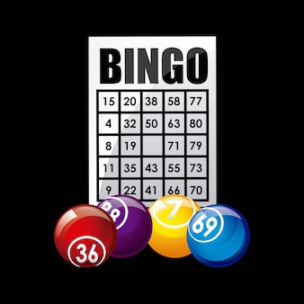 Icona del gioco del casinò di bingo