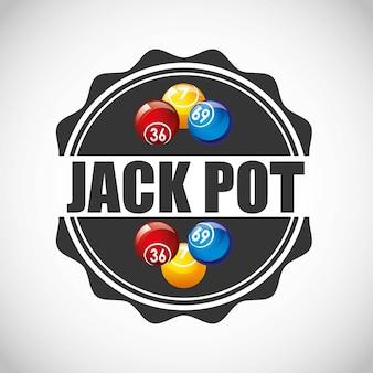 Icona del gioco del casinò di jack pot
