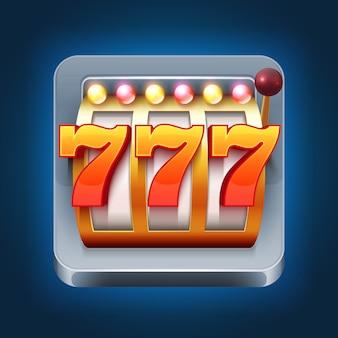 Icona del gioco smartphone vettoriale di casinò