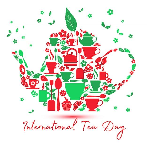 Icona del giorno internazionale del tè