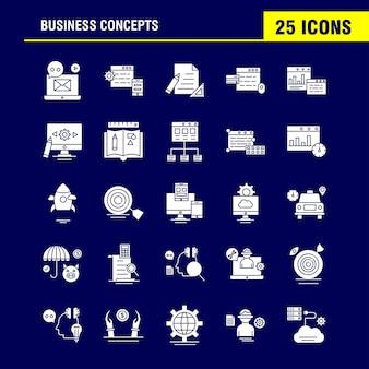 Icona del glifo con concetti aziendali