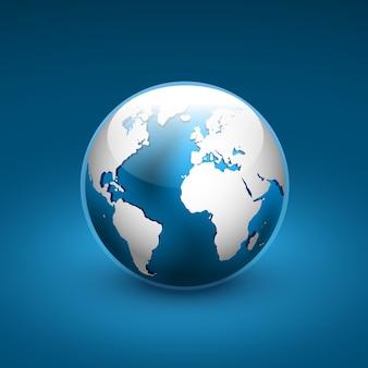 Icona del globo del mondo.