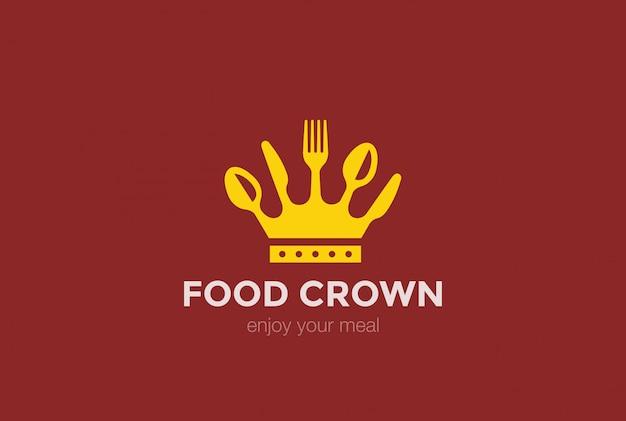 Icona del logo corona alimentare.