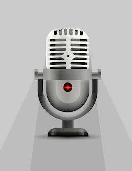 Icona del microfono con un indicatore luminoso.