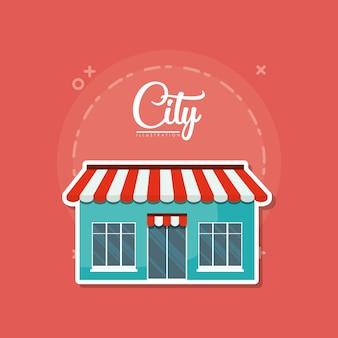 Icona del negozio di città