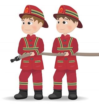 Icona del personaggio dei vigili del fuoco del fumetto