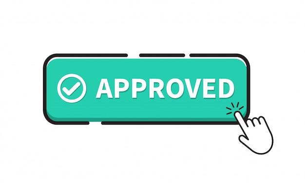 Icona del pulsante approvata.