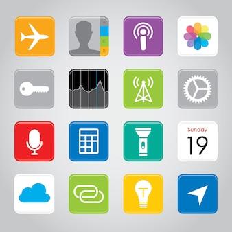 Icona del pulsante dell'applicazione mobile smart phone touchscreen