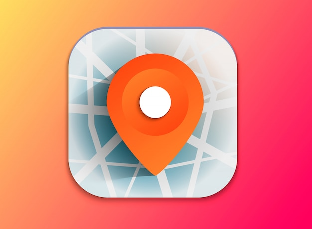Icona del puntatore mappa 3d. indicatori di mappe. illustrazione vettoriale