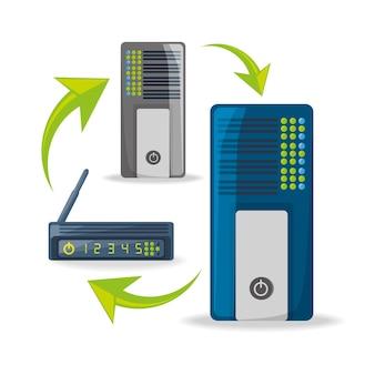Icona del router wi-fi relativa alla connessione internet
