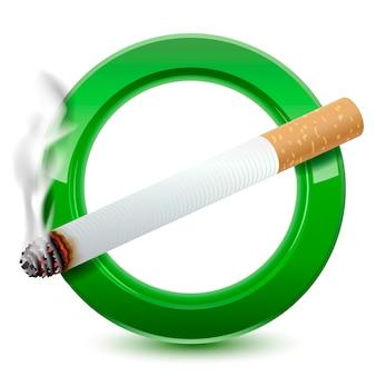 Icona del segno di zona fumatori
