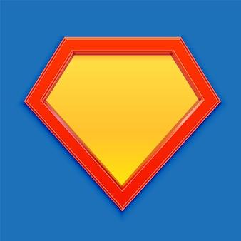 Icona del supereroe. modello di logo di super eroe. distintivo di supereroe vuoto. illustrazione.