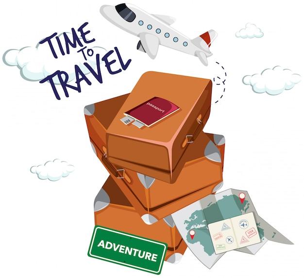 Icona del tempo di viaggiare