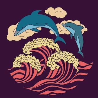 Icona delfino viola scuro