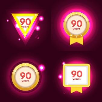 Icona dell'anniversario 90