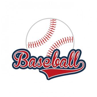 Icona dell'emblema del club di baseball