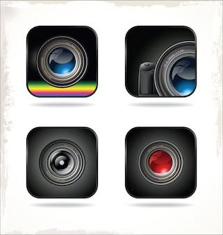 Icona dell'obiettivo della fotocamera