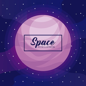 Icona dell'universo dello spazio pianeta