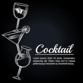 Icona della barra del manifesto tropicale cocktail