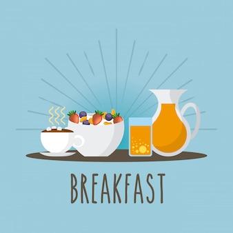 Icona della colazione deliziosa e nutriente