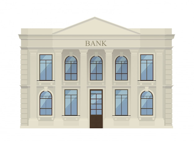 Icona della costruzione di banca isolata