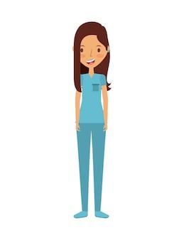Icona della donna infermiera medica