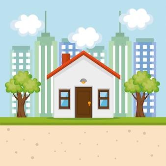 Icona della facciata di casa esterna