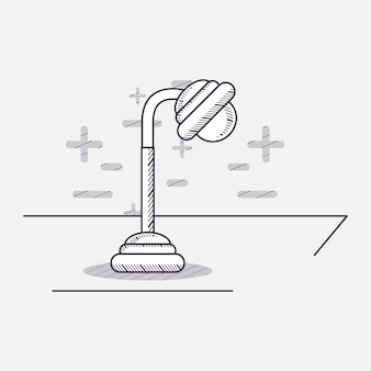 Icona della lampada da tavolo