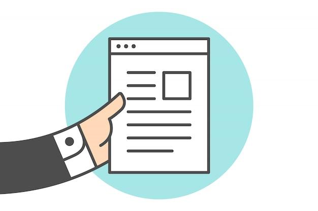 Icona della lettera del file