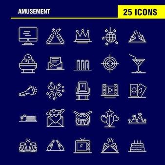 Icona della linea di intrattenimento per web, print e mobile ux / ui kit