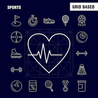 Icona della linea sportiva per il web