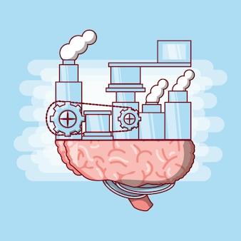Icona della macchina del cervello