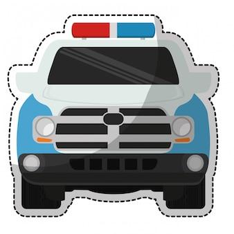 Icona della macchina della polizia