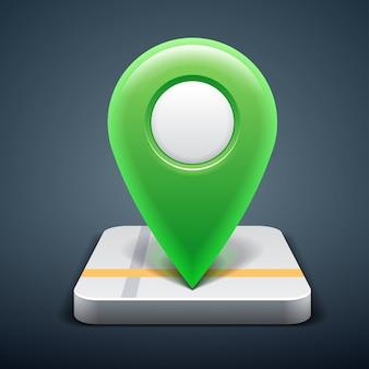 Icona della mappa con puntatore pin